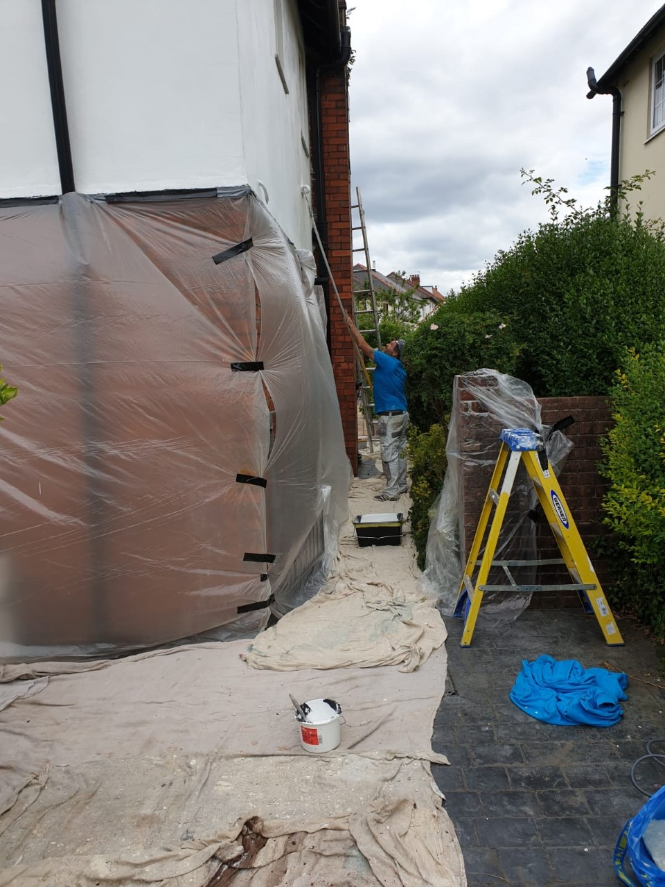 Exterior painting work on Neath property by painters Swansea