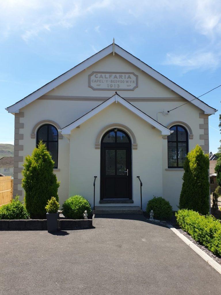 Front view of Calfaria Chapel Ystradgynlais