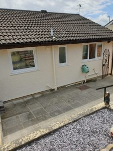 Exterior Masonary Painting Job bt Premier Painters Swansea at Skewen
