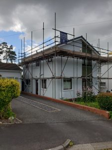 Left Front View of Exterior Painting by Painters Decorators Swansea of property in Cadoxton, Neath